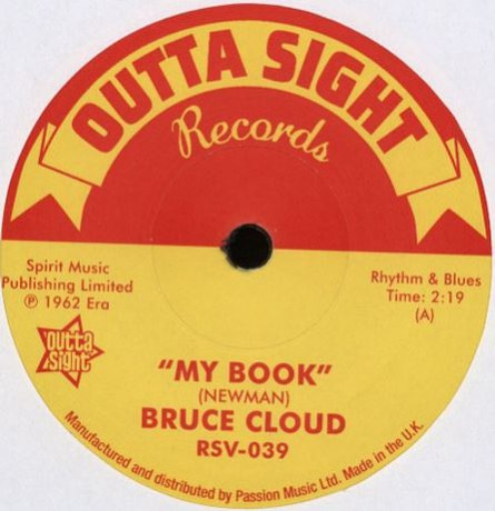 "BRUCE CLOUD ""My Book / Lucky Is My Name"" 7"""