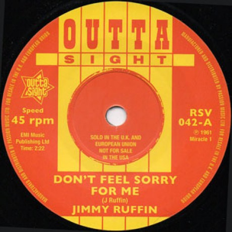 "JIMMY RUFFIN ""Don't Feel Sorry For Me""/ LAMONT DOZIER ""Dearest One"" 7"""