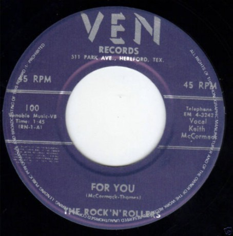 """Rock'n'Rollers """"For You/Boy! I Think It's Really Love"""" 7"""""""