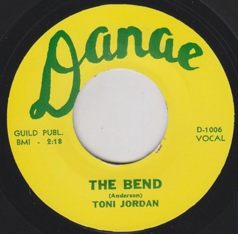 "TONI JORDAN ""THE BEND / I CAN'T FORGET"" 7"""