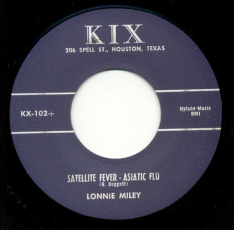 "LONNIE MILEY ""Satellite Fever- Asiatic Flu/ Rockum Beat"" 7"""