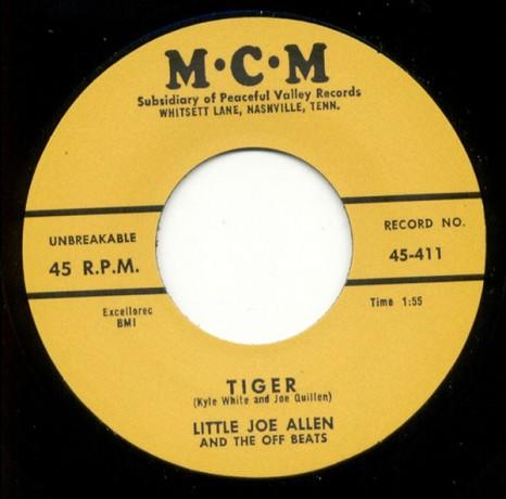 "LITTLE JOE ALLEN ""TIGER/ CAUSE I LOVE YOU"" 7"""