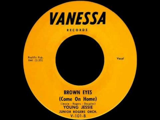 """YOUNG JESSIE """"MAKE ME FEEL A LITTLE GOOD / BROWN EYES"""" 7"""""""