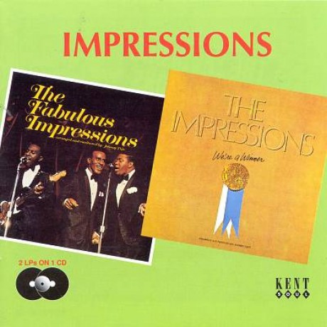 "IMPRESSIONS ""THE FABULOUS IMPRESSESIONS/ WE'RE WINNER"" CD"