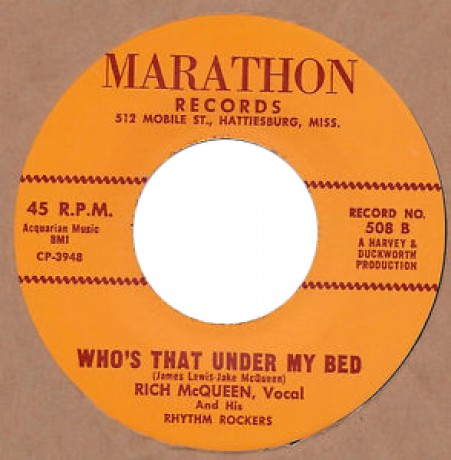 "RICH McQUEEN ""WHO'S THAT UNDER MY BED / WAITING FOR MY LOVE"" 7"""