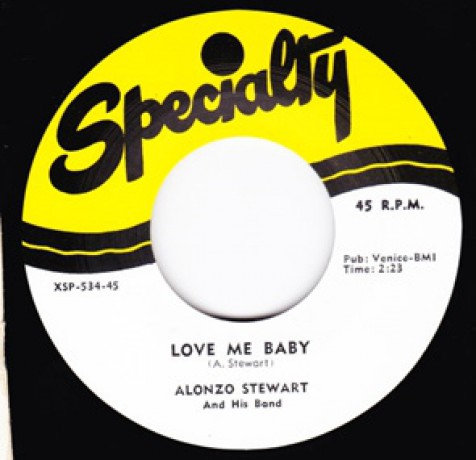 "ALONZO STEWART ""LOVE ME BABY /  GOIN' BACK HOME"" 7"""