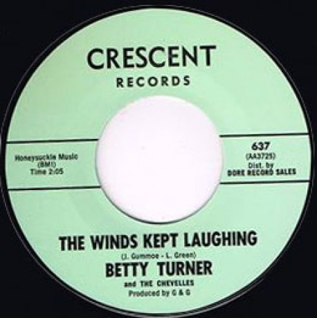 "BETTY TURNER ""THE WINDS KEPT LAUGHING / LITTLE MISS MISERY"" 7"""