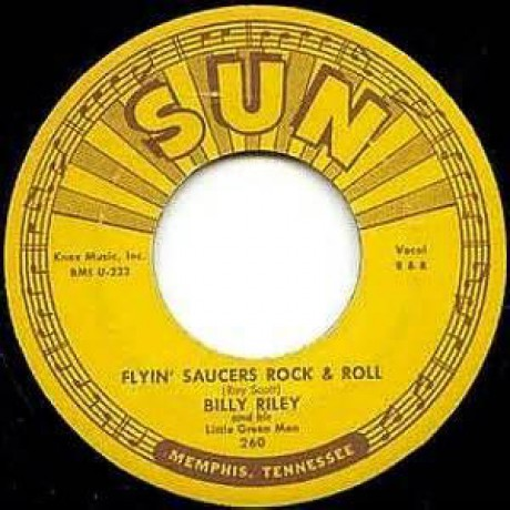 "BILLY LEE RILEY ""FLYIN' SAUCERS R'N'R / I WANT YOU BABY"" 7"""