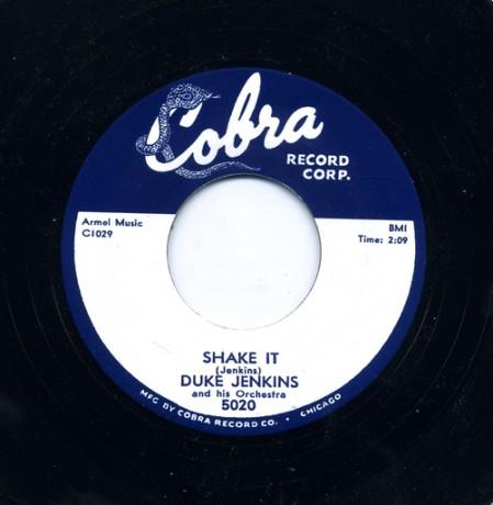 "DUKE JENKINS ""THE DUKE WALKS / SHAKE IT"" 7"""