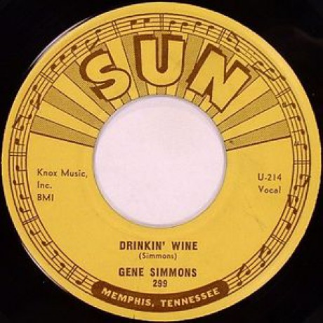 "GENE SIMMONS ""DRINKIN' WINE / I DONE TOLD YOU"" 7"""