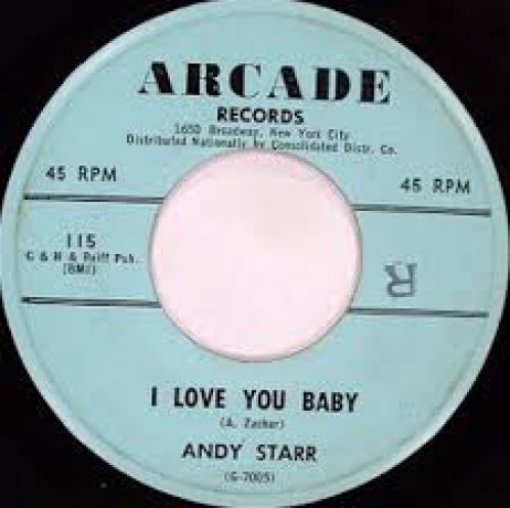 """ANDY STARR """"I Love You Baby / I Know It's True"""" 7"""""""