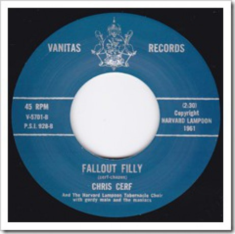 "CHRIS CERF W/ Gordy Main & The Maniacs ""FALLOUT FILLY / THE PENGUIN"" 7"""