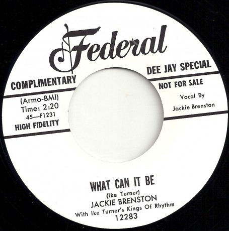 """JACKIE BRENSTON """"GONNA WAIT FOR MY CHANCE / WHAT CAN IT BE"""" 7"""""""