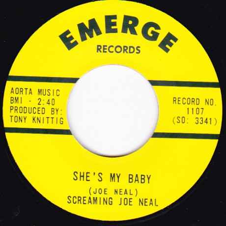 """SCREAMING JOE NEAL""""ROCK AND ROLL DEACON/ TELL ME PRETTY BABY"""" 7"""""""
