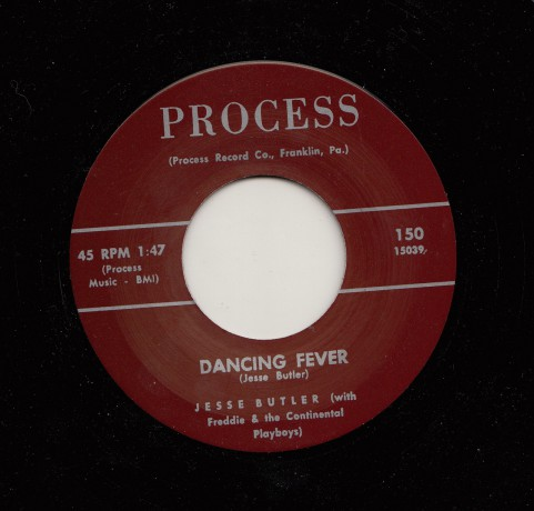 """JESSE BUTLER """"DANCING FEVER / TEAR DROPS AND PENNIES"""" 7"""""""
