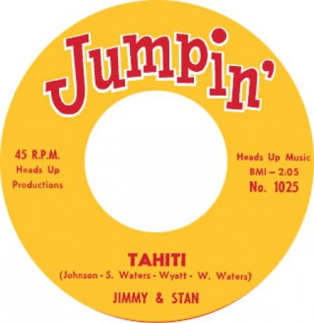 "JIMMY & STAN ""TAHITI"" / 'BABY' EARL & THE TRINIDADS ""BACK SLOP"" 7"""