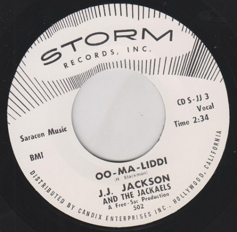"J.J. JACKSON ""OO MA LIDDI / LET THE SHOW BEGIN"" 7"""