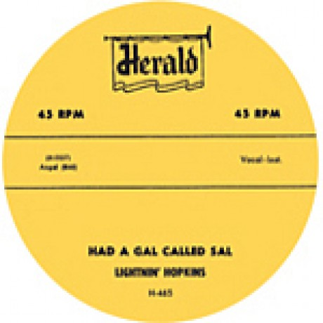 "LIGHTNIN' HOPKINS ""HAD A GAL CALLED SAL/MOVIN' ON OUT BOOGIE"" 7"""