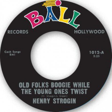"HENRY STROGIN ""OLD FOLKS BOOGIE WHILE THE YOUNG ONES TWIIST"" / SONNY HARPER ""LONELY STRANGER"" 7"""