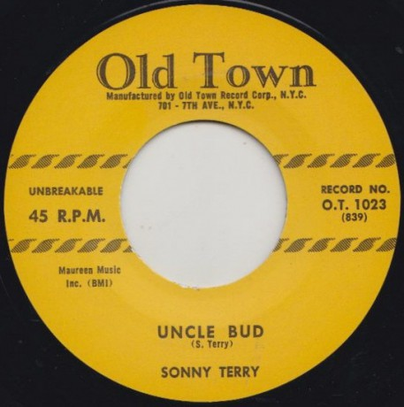 """SONNY TERRY """"UNCLE BUD / CLIMBING ON TOP OF THE HILL"""" 7"""""""
