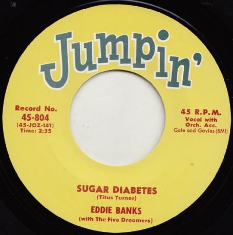 """EDDIE BANKS """"SUGAR DIABETES"""" / ERNIE FIELDS """"TEEN FLIP"""" 7"""""""