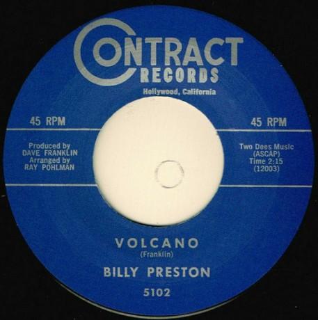 "BILLY PRESTON ""VOLCANO / YOUNG HEARTACHES"" 7"""