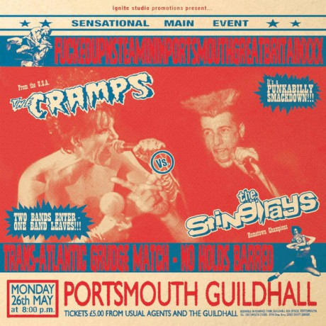 "CRAMPS VS THE STING-RAYS ""FUCKEDUPNSTEAMININPORTSMOUTHGREATBRITAINXXX"" LP"