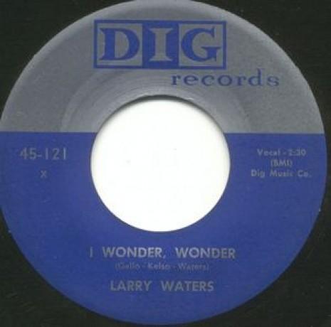 "LARRY WATERS ""I WONDER, WONDER"" / PRESTON LOVE ""COUNTRY BOOGIE"" 7"""