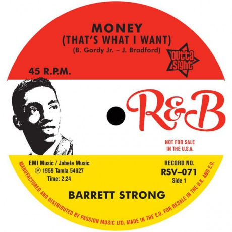 """BARRETT STRONG """" Money (That's What I Want) / Misery"""" 7"""""""