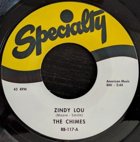 "CHIMES ""Zindy Lou"" / ARTHUR LEE MAYE ""Oh-Rooba-Lee"" 7"""