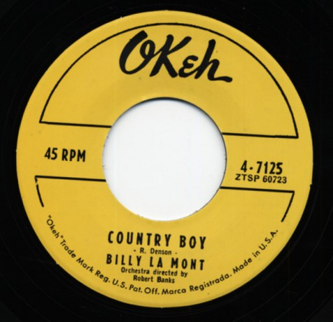 "BILLY LAMONT ""COUNTRY BOY / CAN'T MAKE IT BY MYSELF"" 7"""