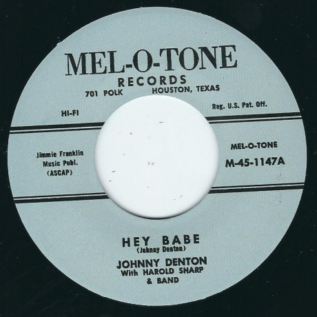 "JOHNNY DENTON ""Hey Babe / Down By The Mill"" 7"""