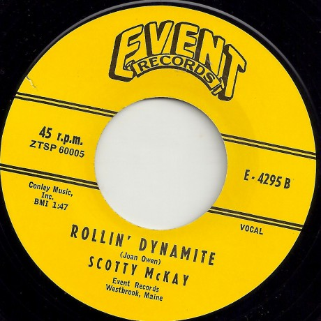 "SCOTTY McKAY ""ROLLIN' DYNAMITE / EVENIN' TIME"" 7"""