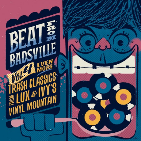 "BEAT FROM BADSVILLE ""Trash Classics From Lux & Ivy's Vinyl Mountain Vol. 4"" Double 10"""
