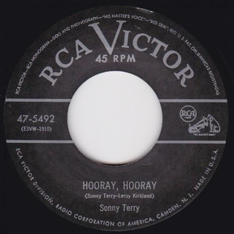 "SONNY TERRY ""Hoopin' & Jumpin / Hooray Hooray"" 7"""