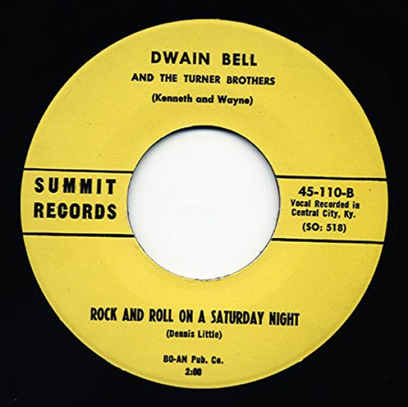 """DWAIN BELL """"Rock And Roll On A Saturday Night/ I'm Gonna Ride"""" 7"""""""