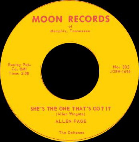 "ALLEN PAGE ""DATELESS NIGHT / I WISH YOU WERE WISHING"" 7"""
