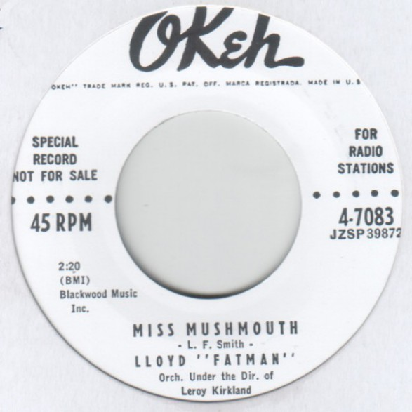"""LLOYD FATMAN """"MISS MUSHMOUTH / GOOD GRACIOUS"""" 7"""""""