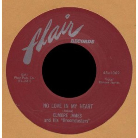 "ELMORE JAMES ""NO LOVE IN MY HEART / HAPPY HOME"" 7"""