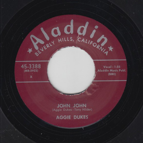 "AGGIE DUKES ""JOHN JOHN / JEANNIE BARNES ""CAN'T GET YOU OFF MY MIND"" 7"""