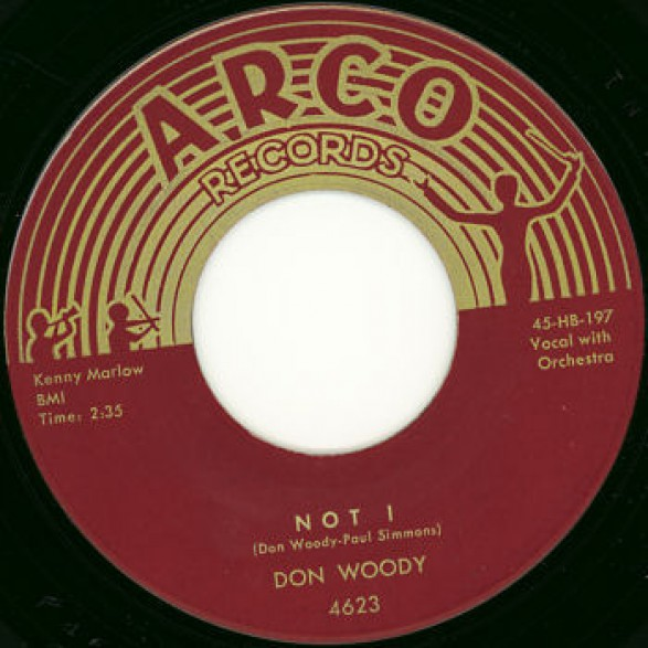 """DON WOODY """"Not ! / Red Blooded American Boy"""" 7"""""""