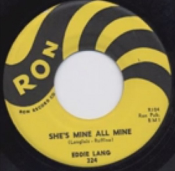 """EDDIE LANG """"SHE'S MINE ALL MINE/Troubles Troubles"""" 7"""""""