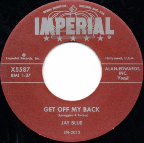 """JAY BLUE """"Get Off My Back / The Coolest"""" 7"""""""