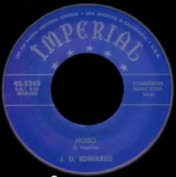 """J.D. EDWARDS """"HOBO/CRYING"""" 7"""""""