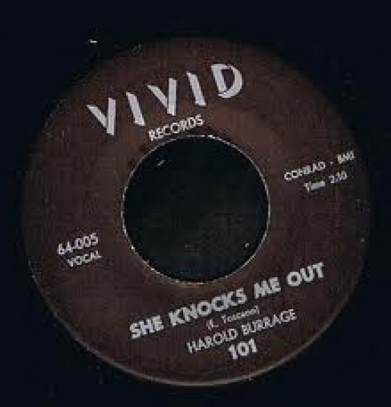 "HAROLD BURRAGE ""SHE KNOCKS ME OUT/A Heart"" 7"""