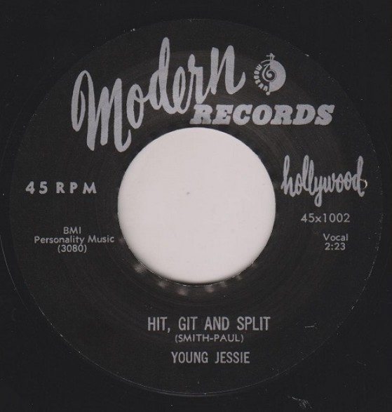 """YOUNG JESSIE """"Hit, Git And Split / Don't Happen No More"""" 7"""""""