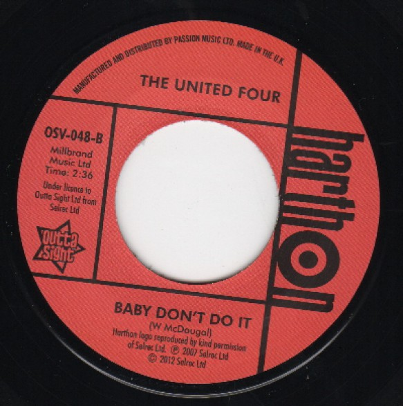 """United """"Four Honey Please Stay/ Baby Don't Do It"""" 7"""""""