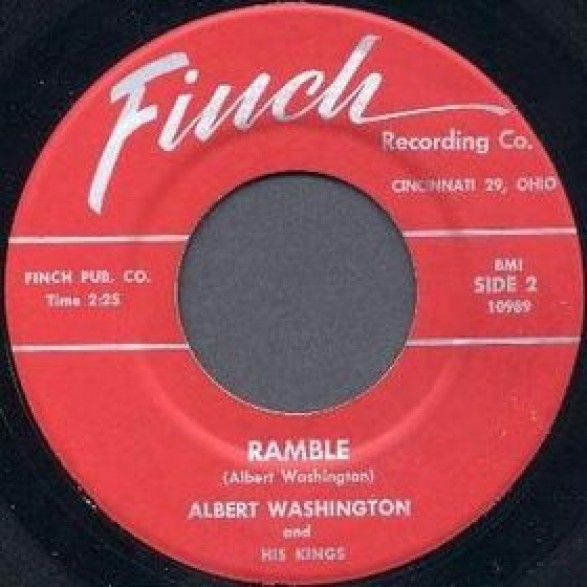 "ALBERT WASHINGTON ""RAMBLE/YOU GONNA MISS ME"" 7"""