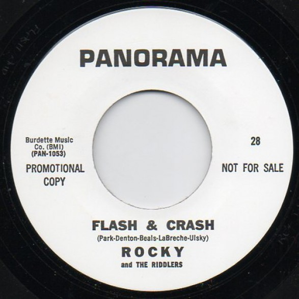 "ROCKY AND THE RIDDLERS ""FLASH AND CRASH/BATMAN"" 7"""