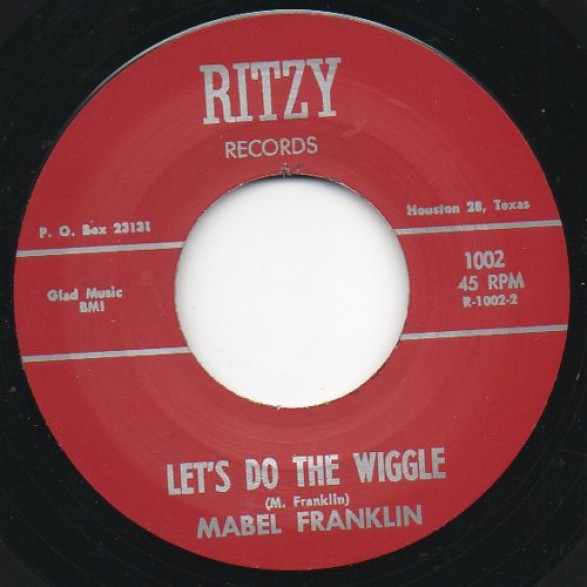 """MABEL FRANKLIN """"LET'S DO THE WIGGLE / Dream I Had Last Night"""" 7"""""""